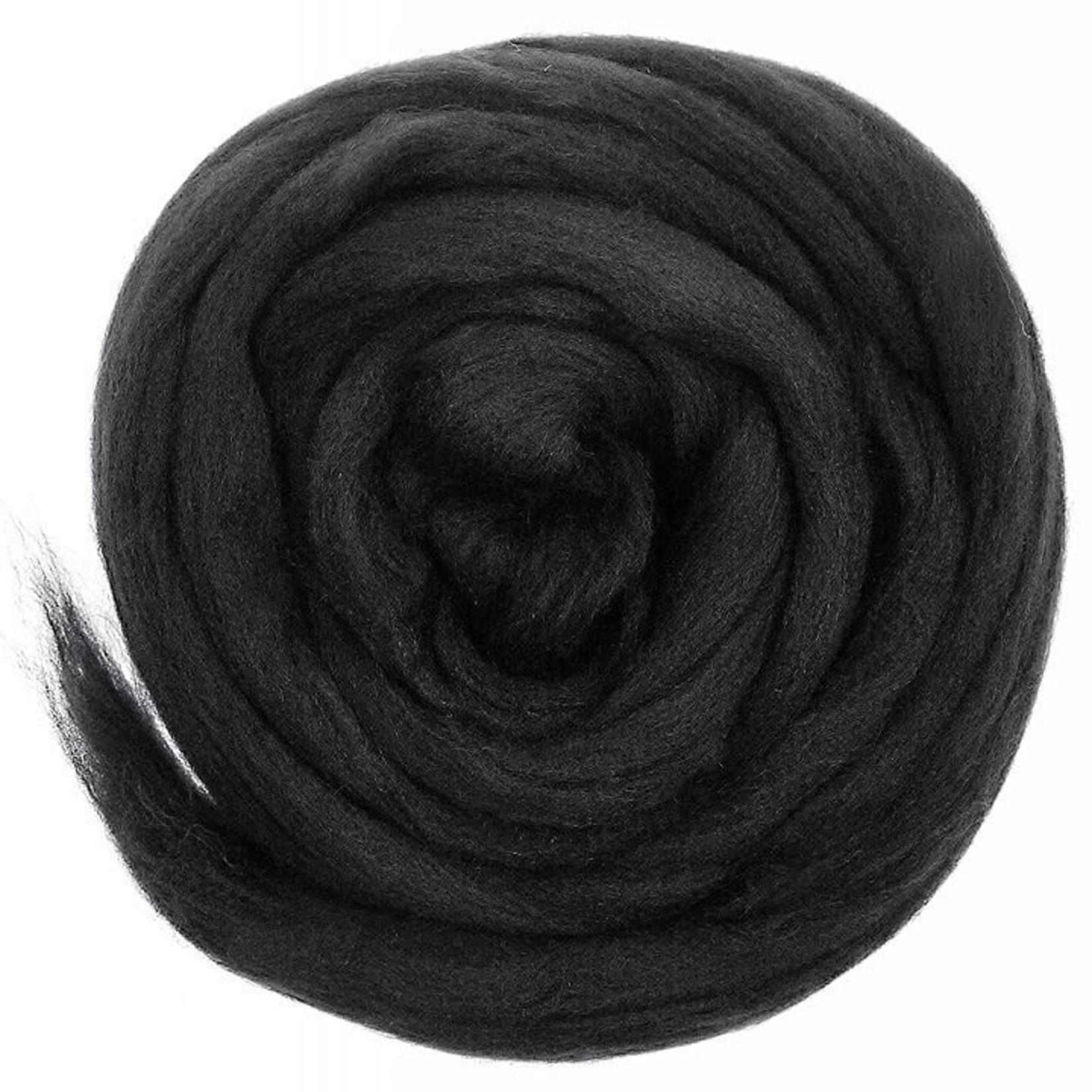 Meervilt Lontwol Merino EU - 633 Charcoal Black - 50 gr.