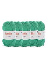 Katia Katia Capri - kleur 130 Groen - bundel 5 x 50 gr. / 125 m. - 100% katoen