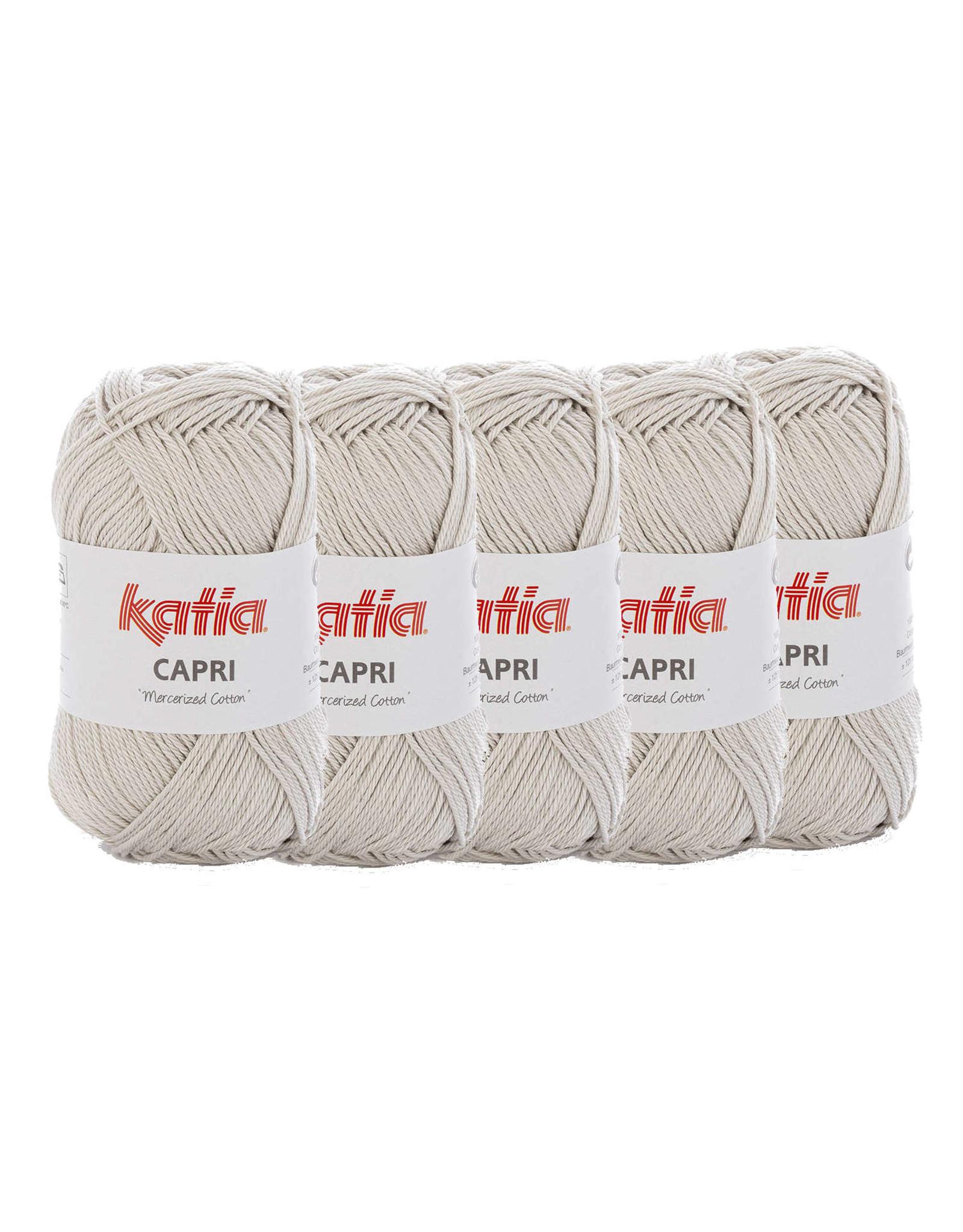 Katia Katia Capri - kleur 134 Parel lichtgrijs- bundel 5 x 50 gr. / 125 m. - 100% katoen