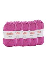 Katia Katia Capri - kleur 138 Licht fuchsia - bundel 5 x 50 gr. / 125 m. - 100% katoen