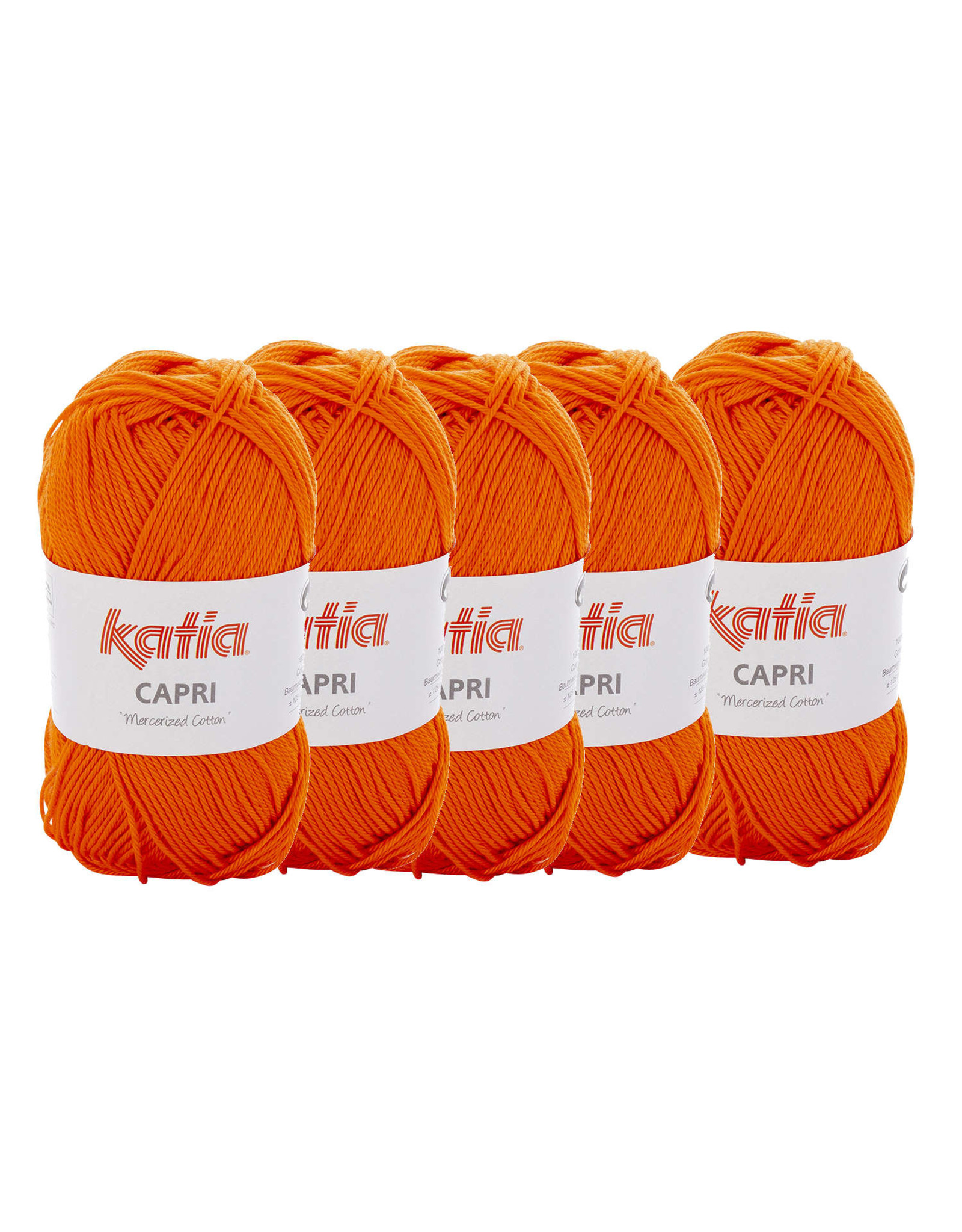Katia Katia Capri - kleur 143 Dieporanje - bundel 5 x 50 gr. / 125 m. - 100% katoen