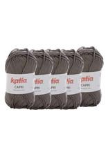 Katia Katia Capri - kleur 163 Reebruin - bundel 5 x 50 gr. / 125 m. - 100% katoen