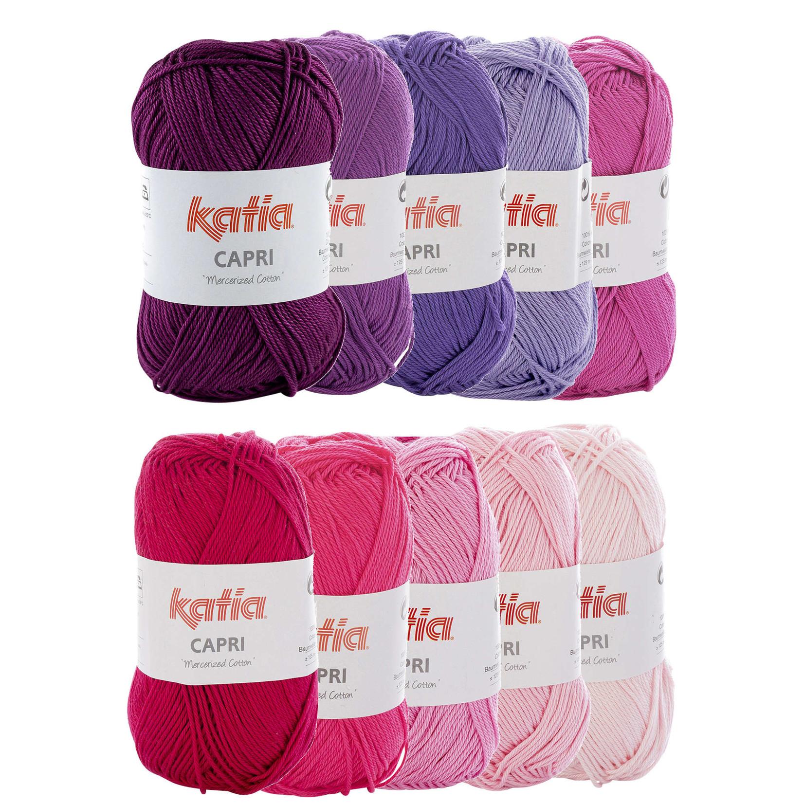 Katia Katia Capri kleurenbundel Roze 10 x 50 gr. = 125 m. gemerceriseerde katoen