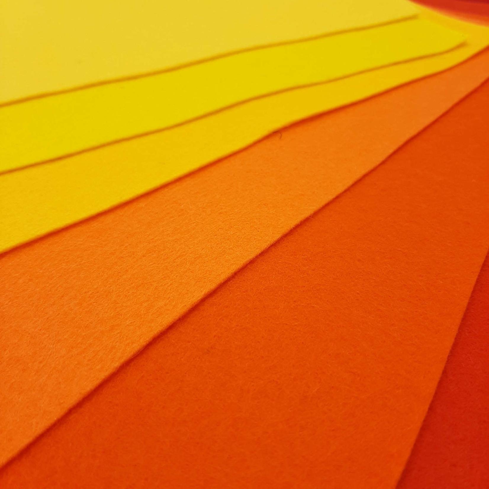 HollandFelt Wolvilt - Summer - 8 lapjes 20 x 30 cm. - zuiver scheerwol- 1 mm. dik