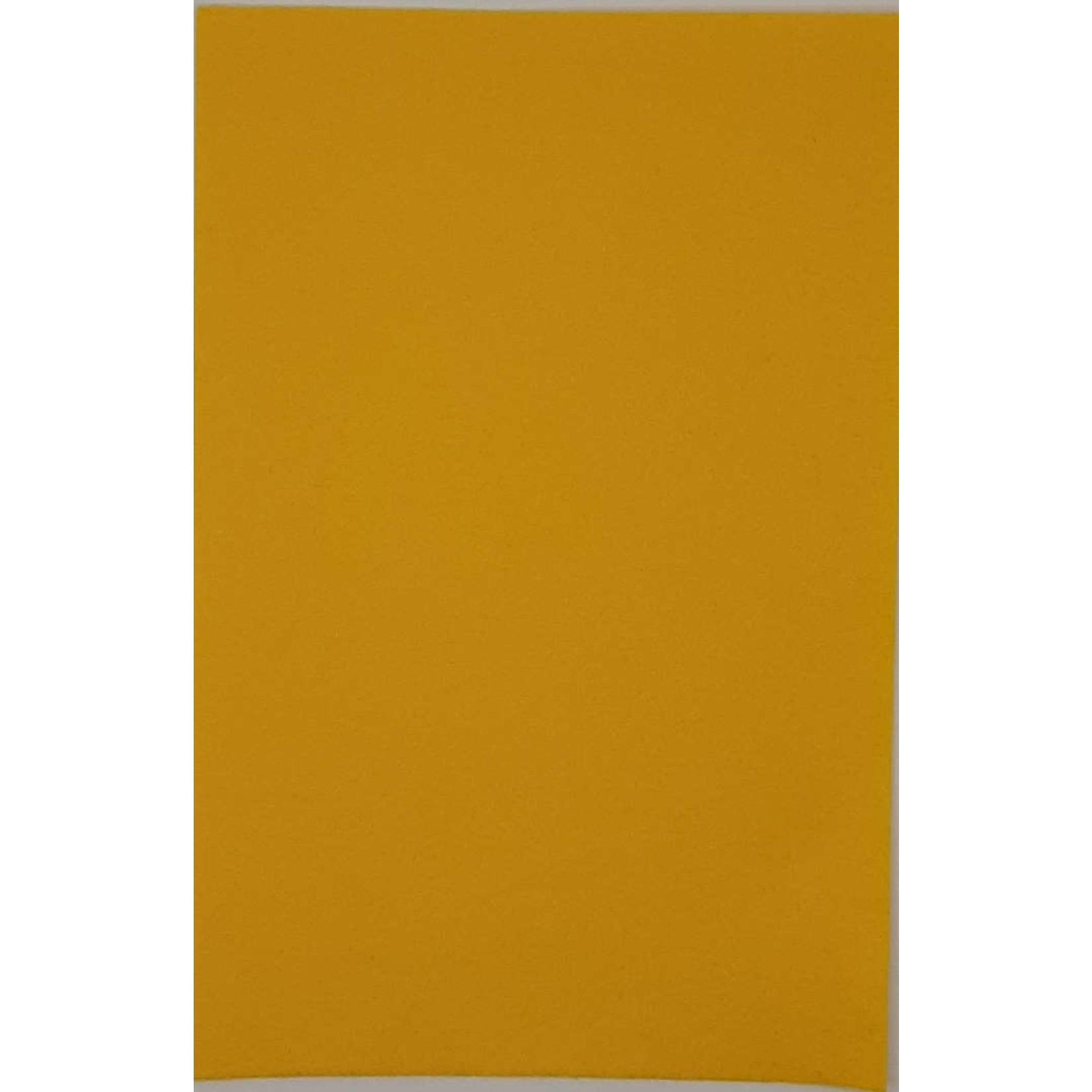 HollandFelt Wolvilt - lapje 20 x 30 cm. - kleur 01  geel - zuiver scheerwol- 1 mm. dik