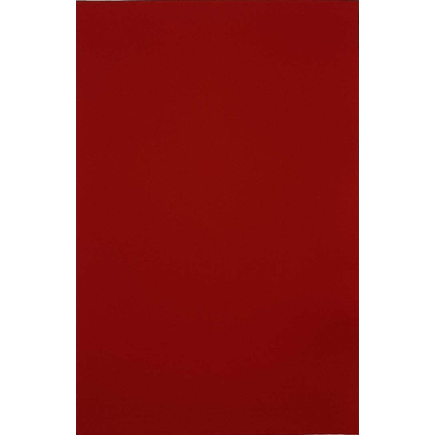 HollandFelt Wolvilt - lapje 20 x 30 cm. - kleur 07  Vuurrood - zuiver scheerwol- 1 mm. dik