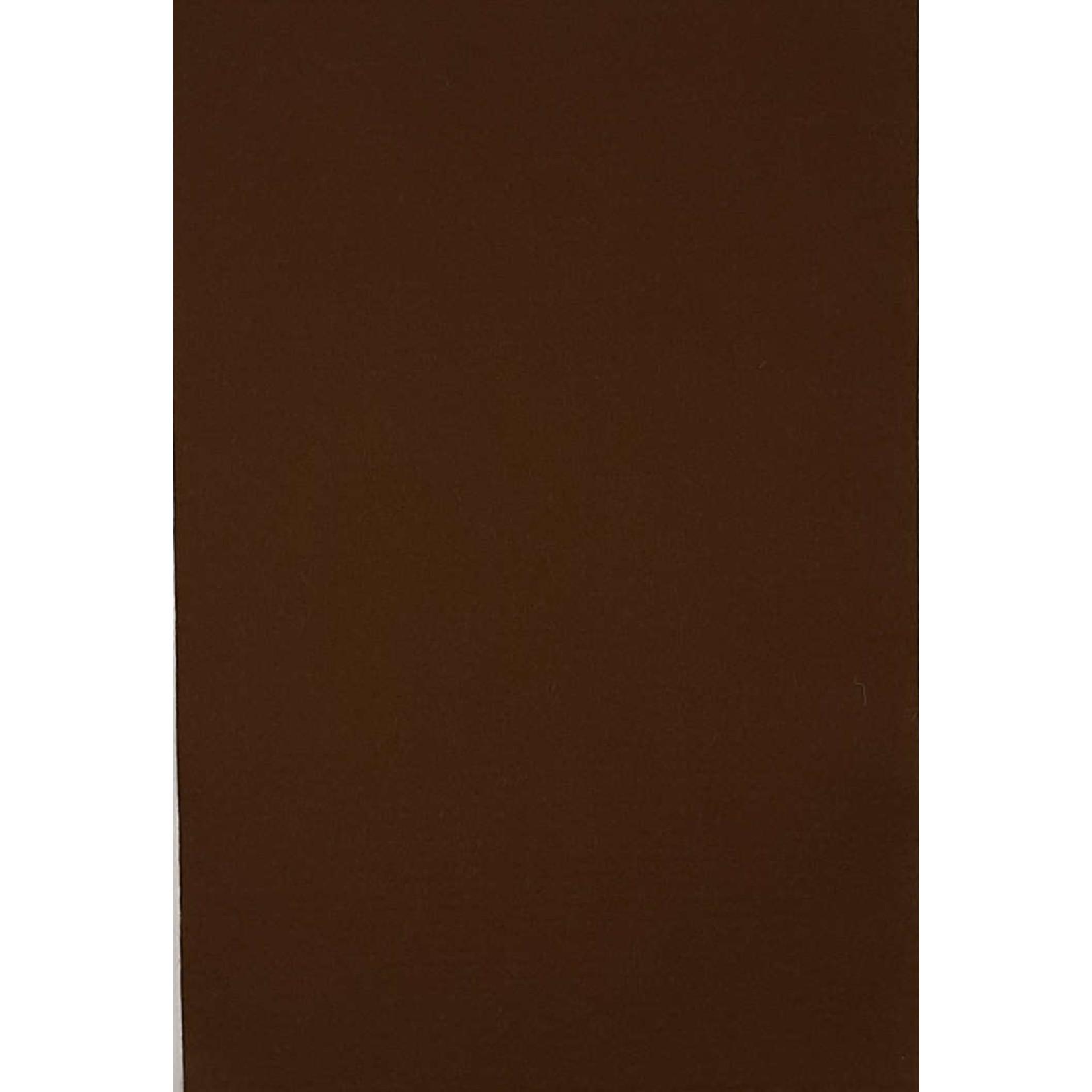 HollandFelt Wolvilt - lapje 20 x 30 cm. - kleur 16 - Bruin - zuiver scheerwol- 1 mm. dik