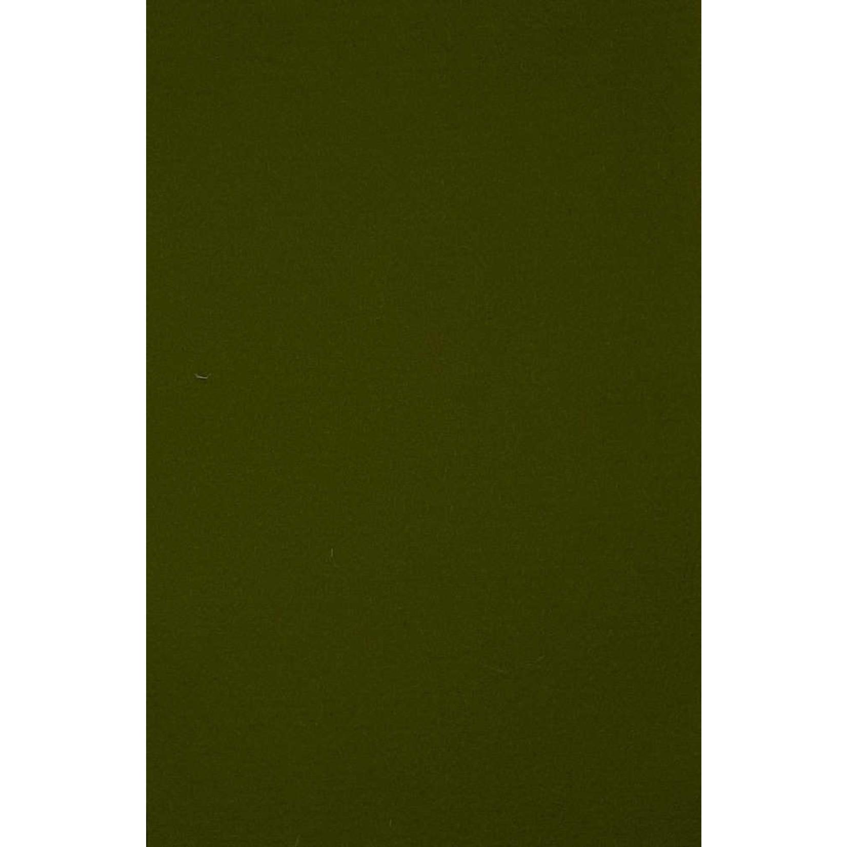 HollandFelt Wolvilt - lapje 20 x 30 cm. - kleur 14 - Olijfgroen - zuiver scheerwol- 1 mm. dik