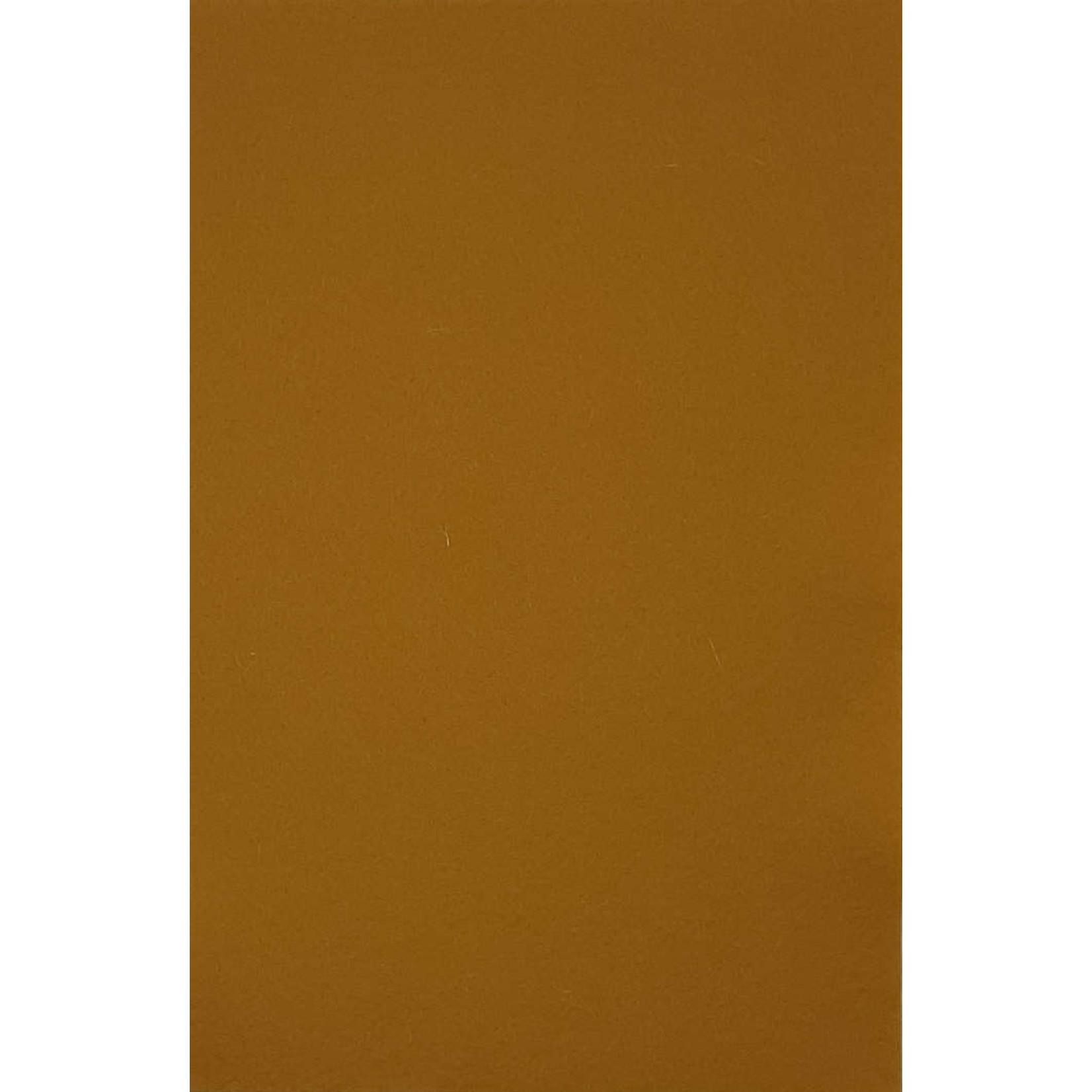 HollandFelt Wolvilt - lapje 20 x 30 cm. - kleur 11 - Brons - zuiver scheerwol- 1 mm. dik
