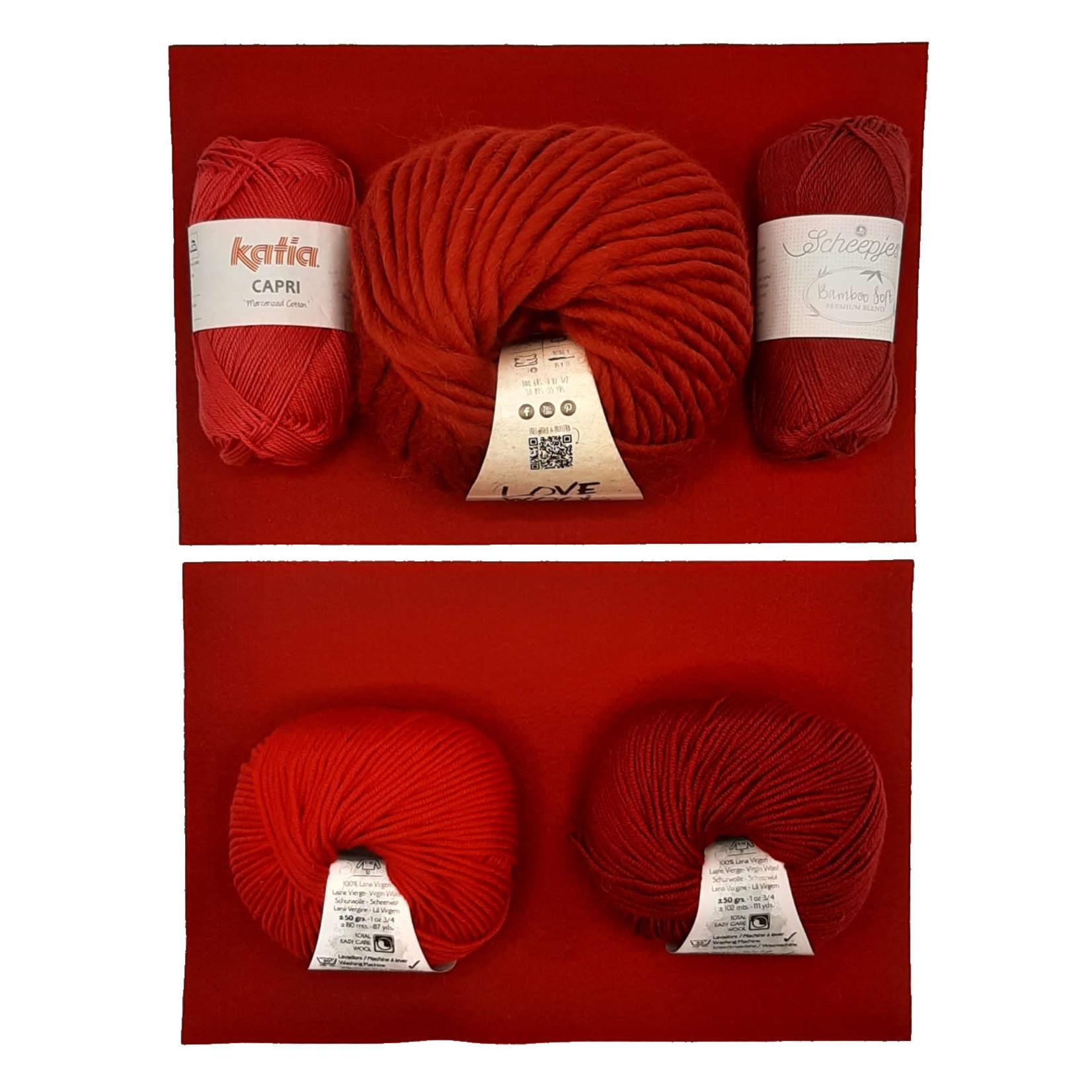 WolVol WolVol kleurenbundel Valentijn div. roodtinten