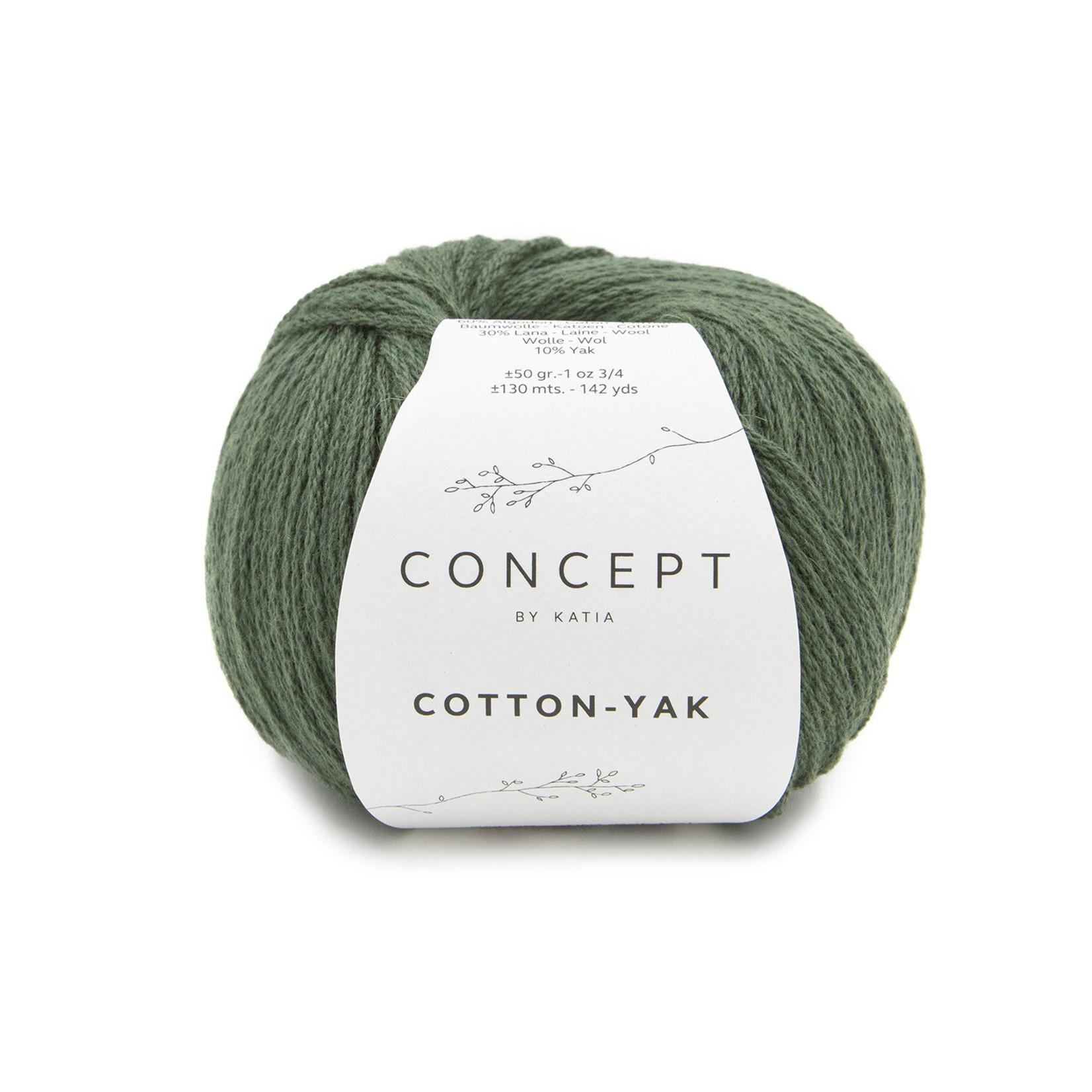 Katia Katia Cotton Yak - 125 - Flessegroen - katoen wol yak
