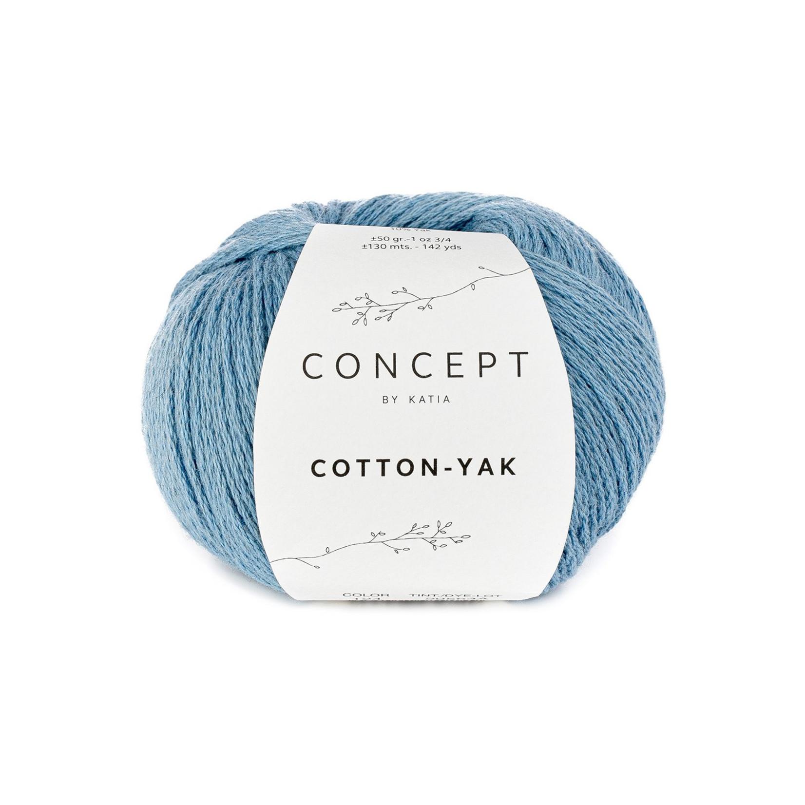 Katia Katia Cotton Yak - 124 - Lichtblauw - katoen wol yak
