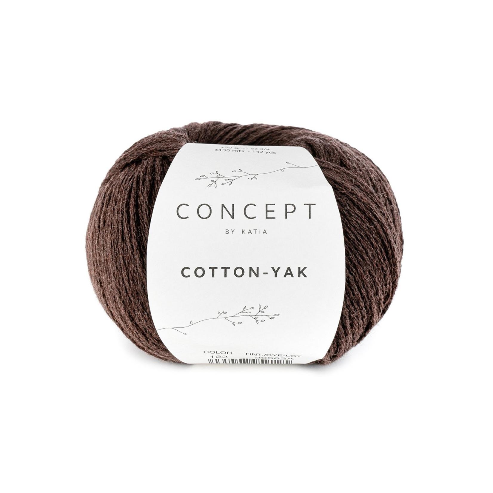 Katia Katia Cotton Yak - 123 - Bruin - katoen wol yak