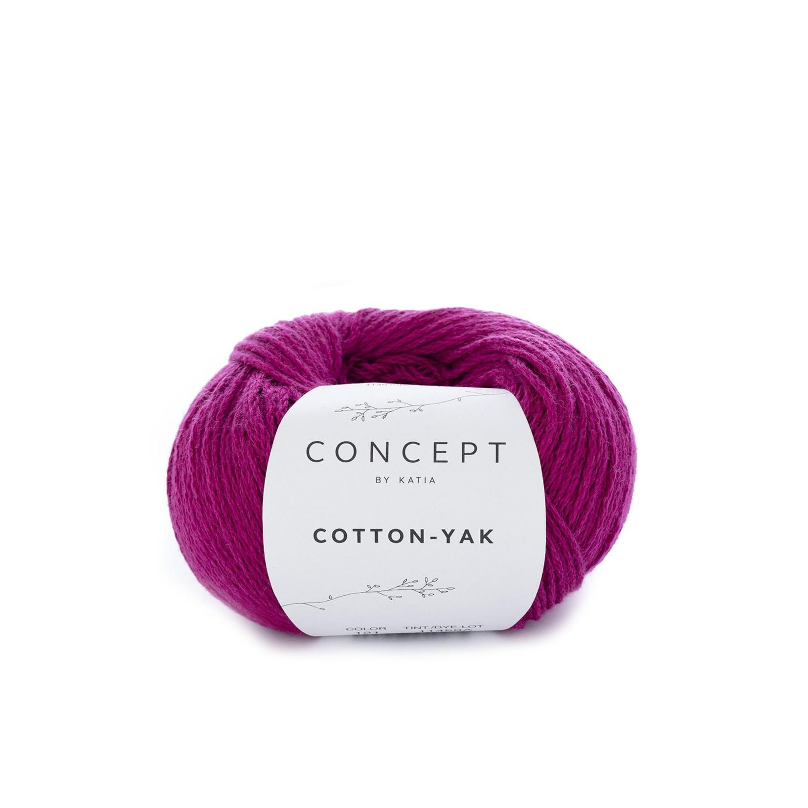 Katia Katia Cotton Yak - 121 - Fuchsia - katoen wol yak