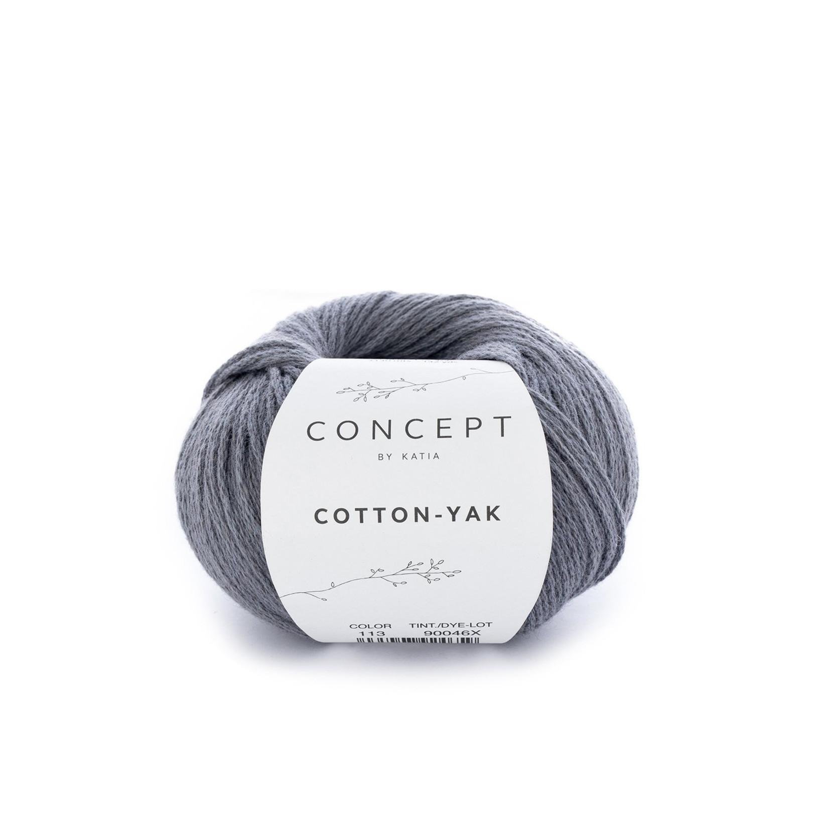 Katia Katia Cotton Yak - 113 - Antracietgrijs - katoen wol yak