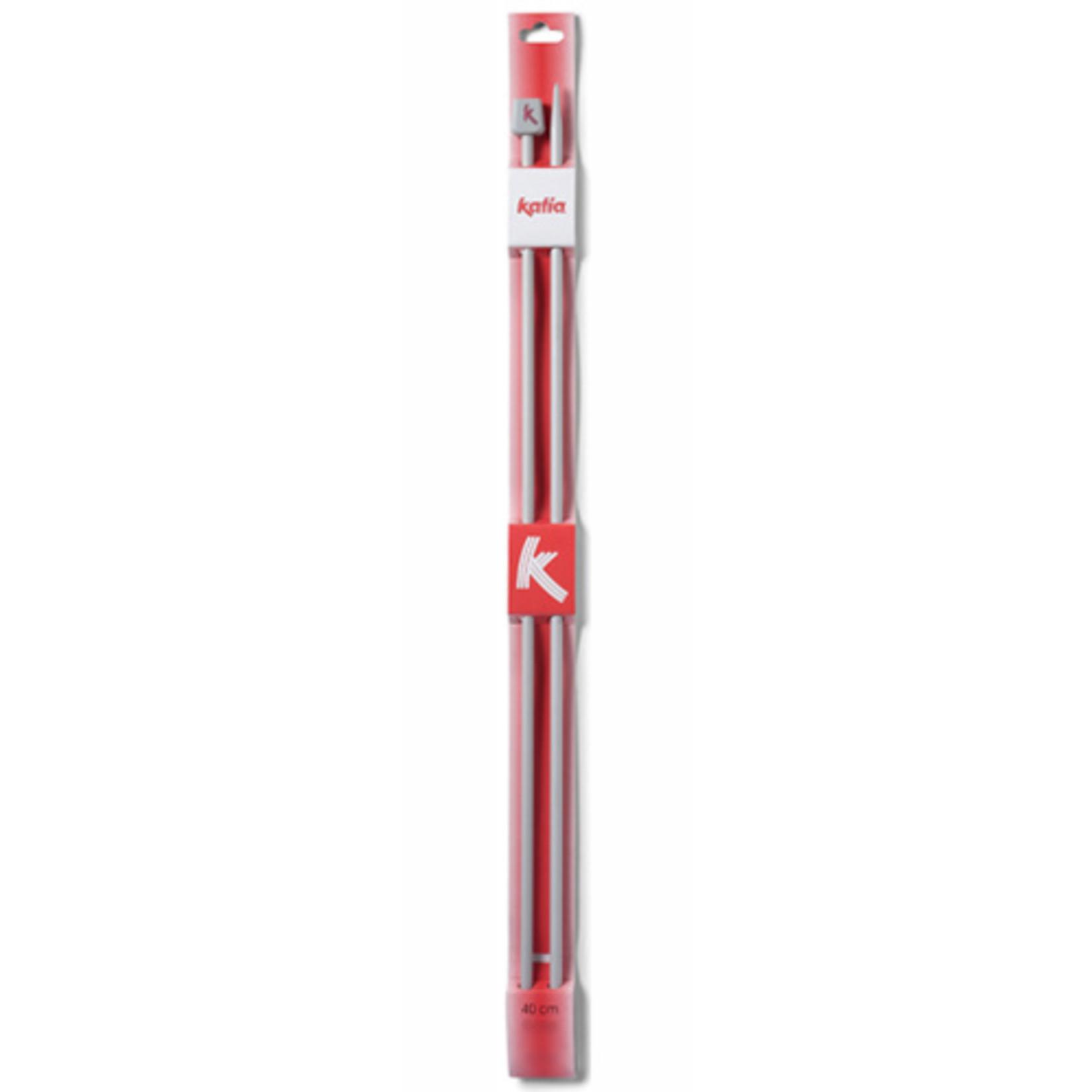 Katia Katia aluminium breinaalden 40 cm. Naalddikte 3 t/m 5.5