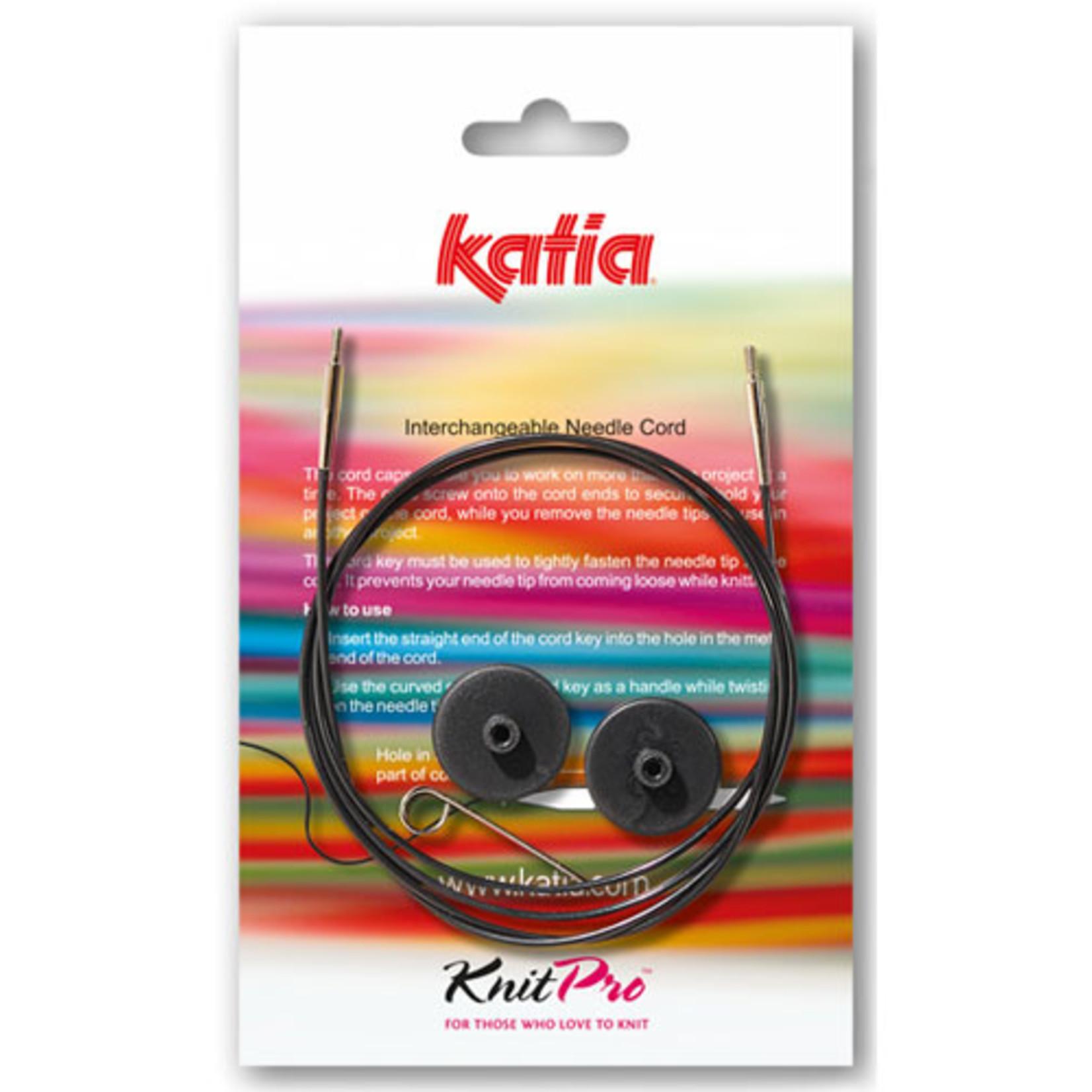 Katia Verwisselbare kabelnaald voor rondbreinaalden in zes lengtes
