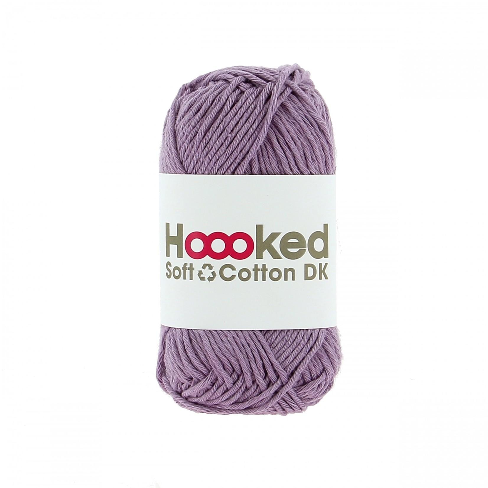 Hoooked Hoooked Soft Cotton DK Granada Lavender 50 gr. / 85 m.