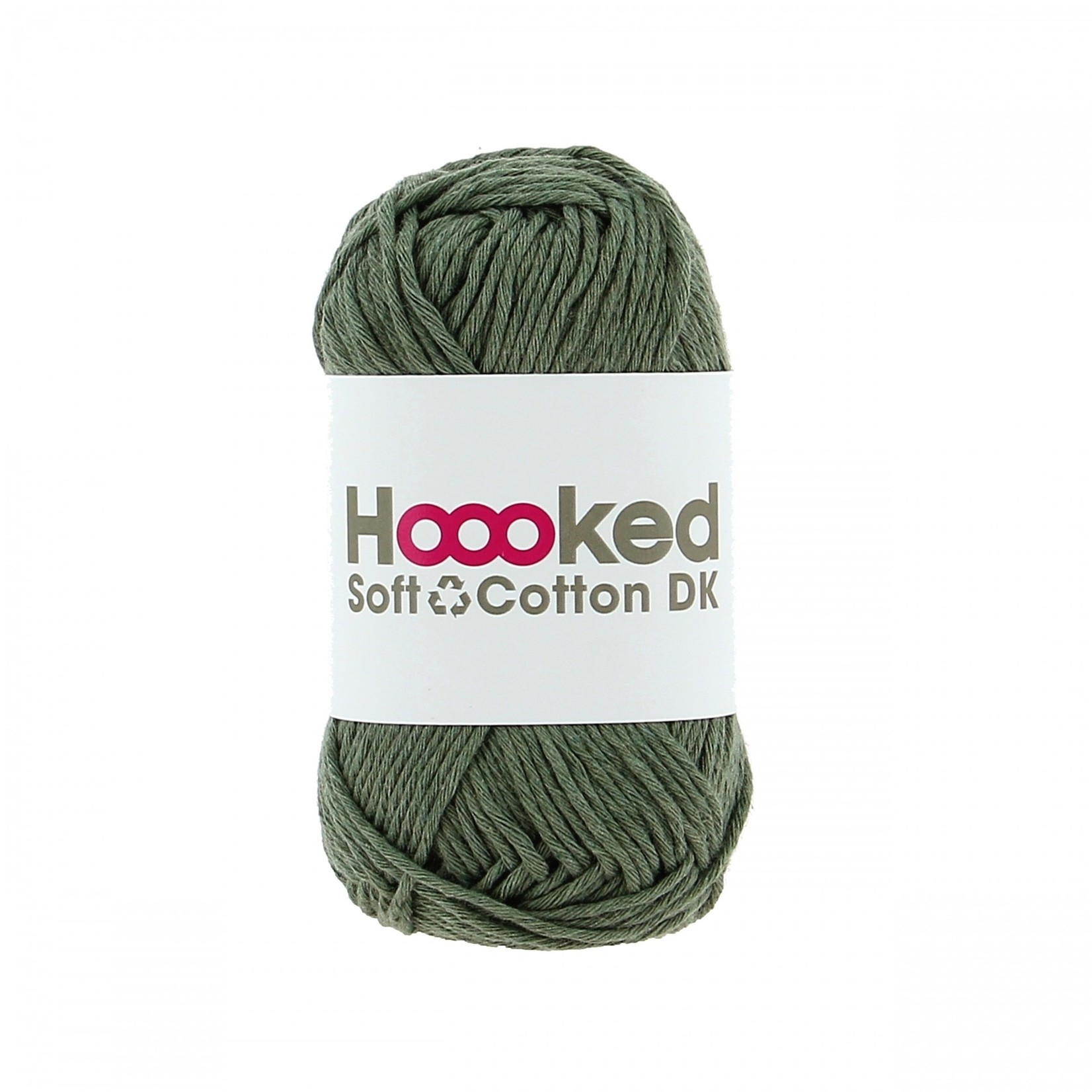 Hoooked Hoooked Soft Cotton DK Paramaribo Palm 50 gr. / 85 m.