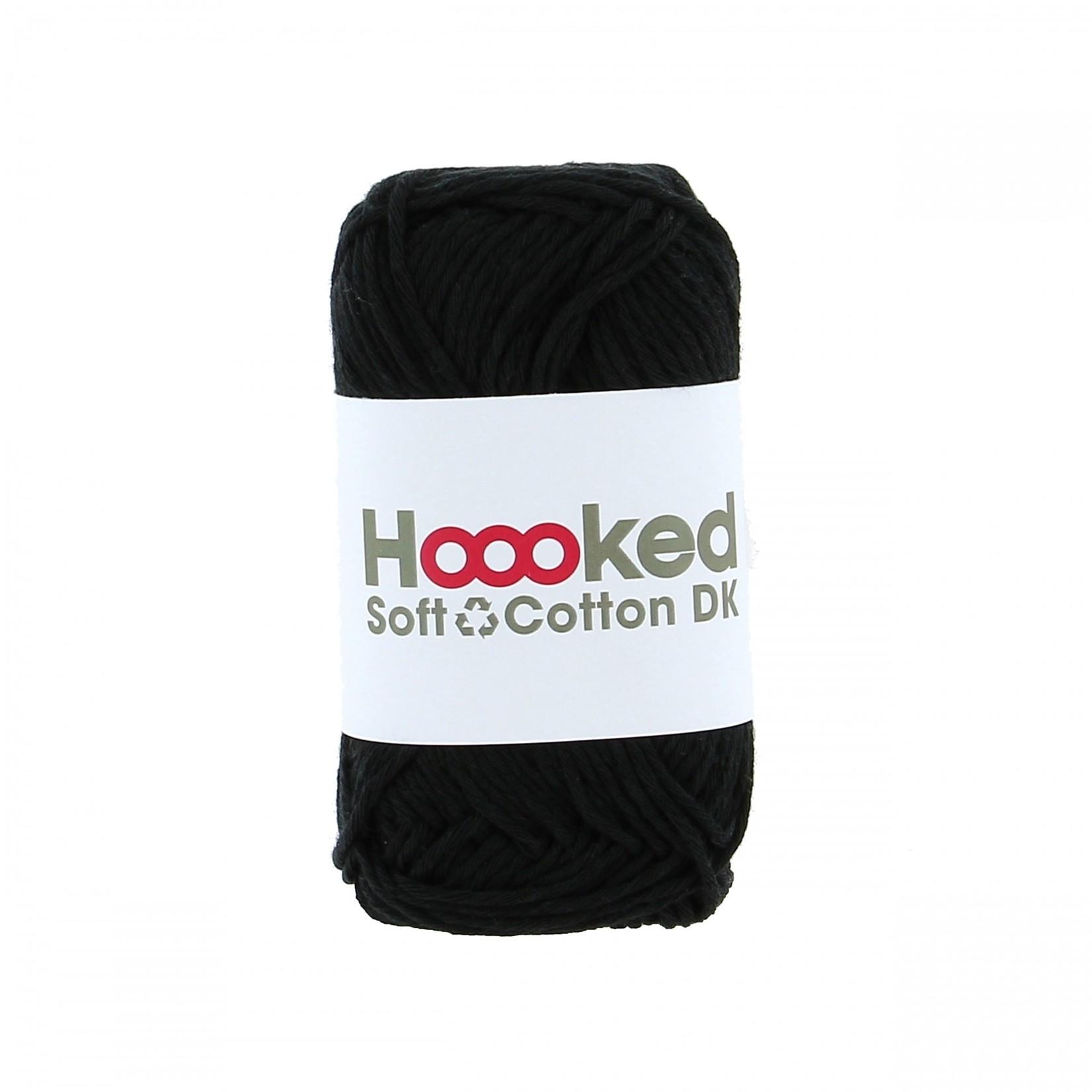 Hoooked Hoooked Soft Cotton DK Boston Black 50 gr. / 85 m.