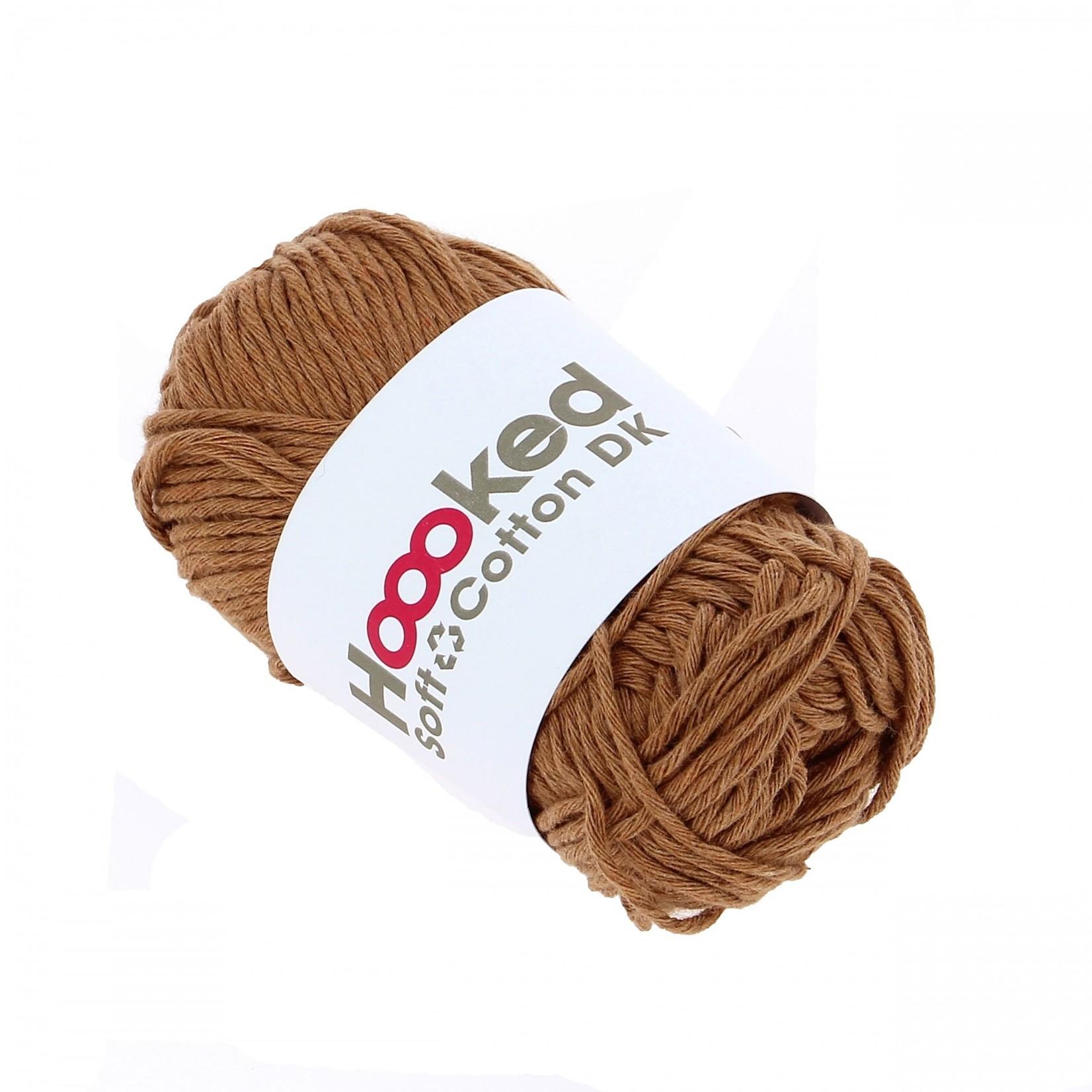 Hoooked Hoooked Soft Cotton DK Caïro Caramel 50 gr. / 85 m.