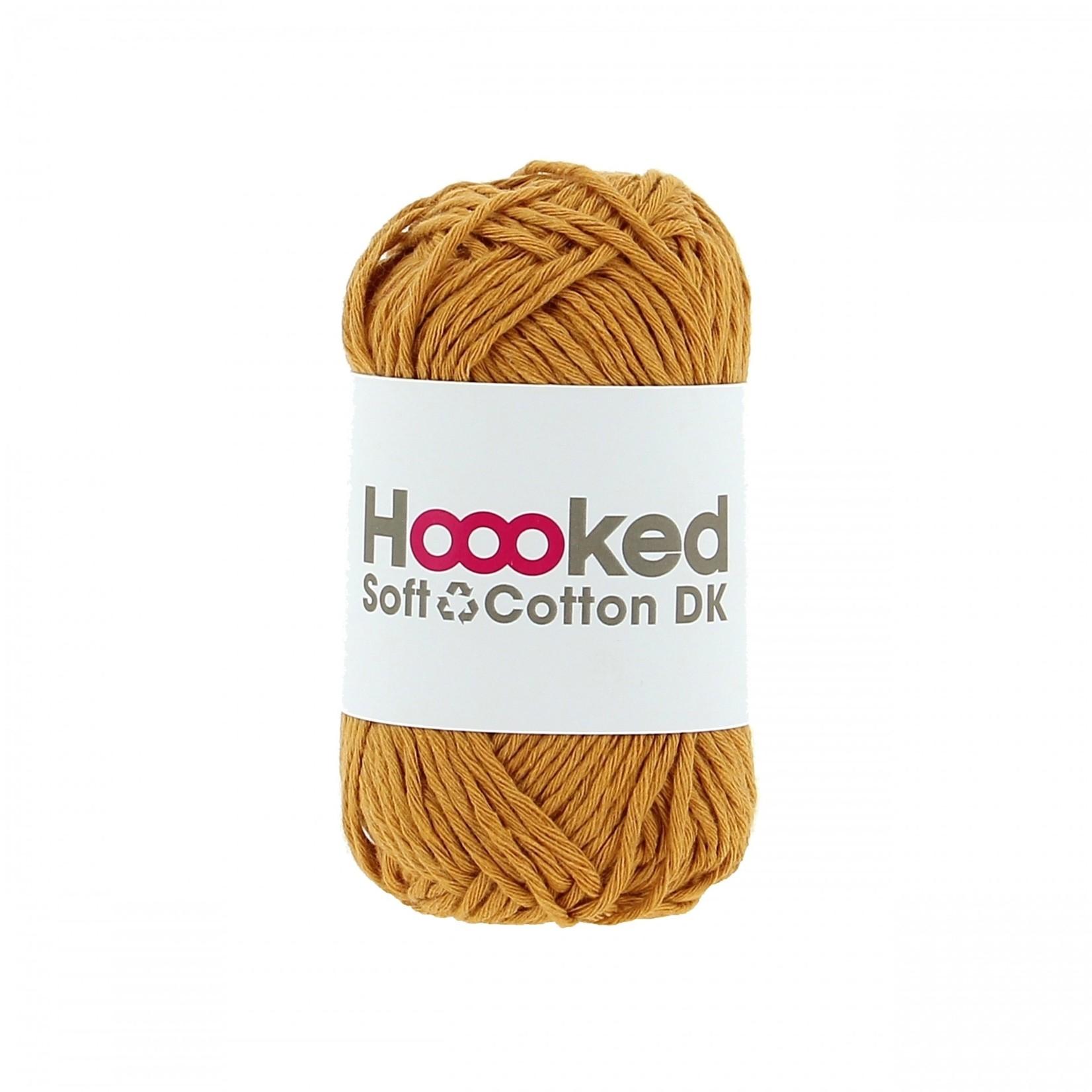 Hoooked Hoooked Soft Cotton DK Sienna Ocre bundel 5 x 50 gr. / 85 m.