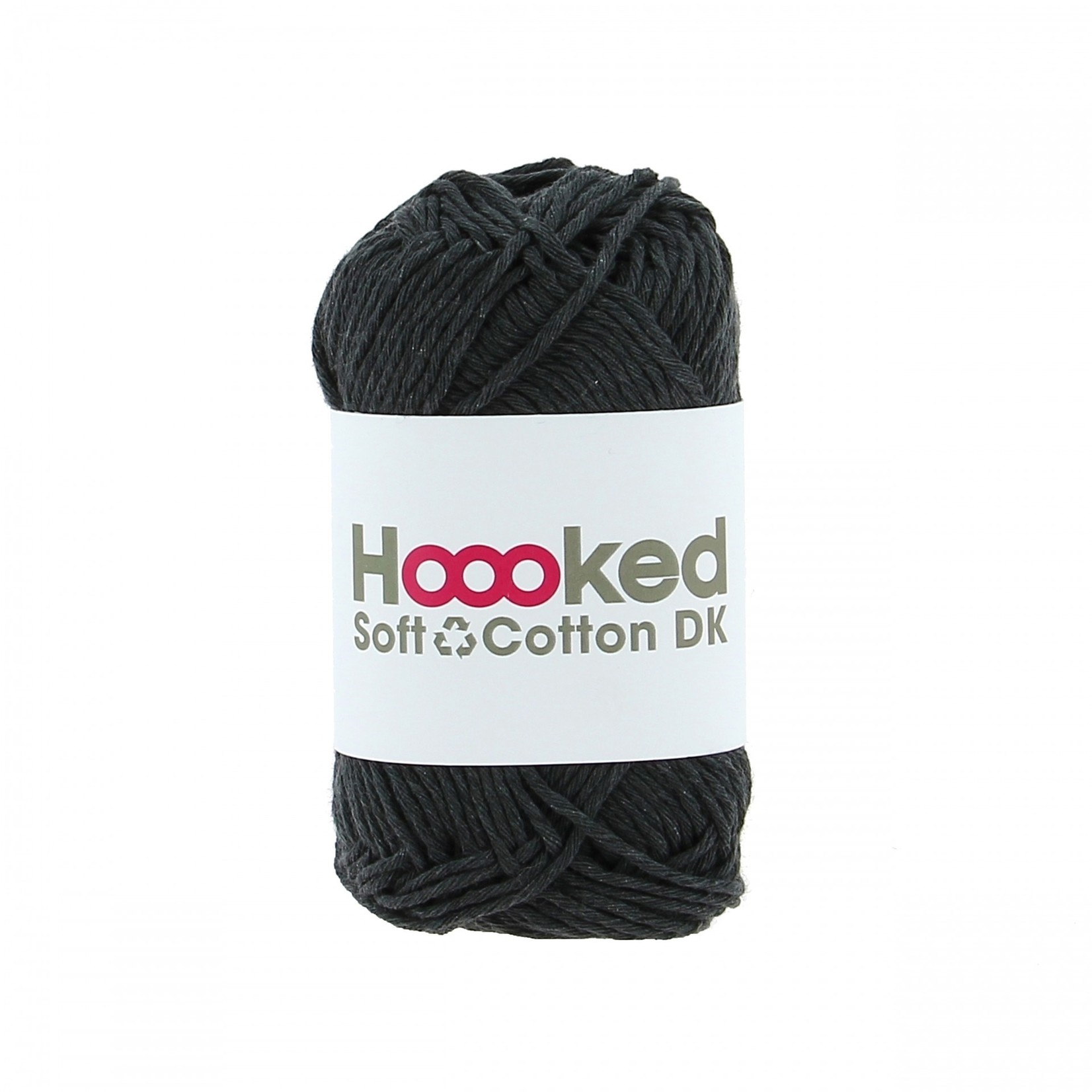 Hoooked Hoooked Soft Cotton DK London Charcoal bundel 5 x 50 gr. / 85 m.
