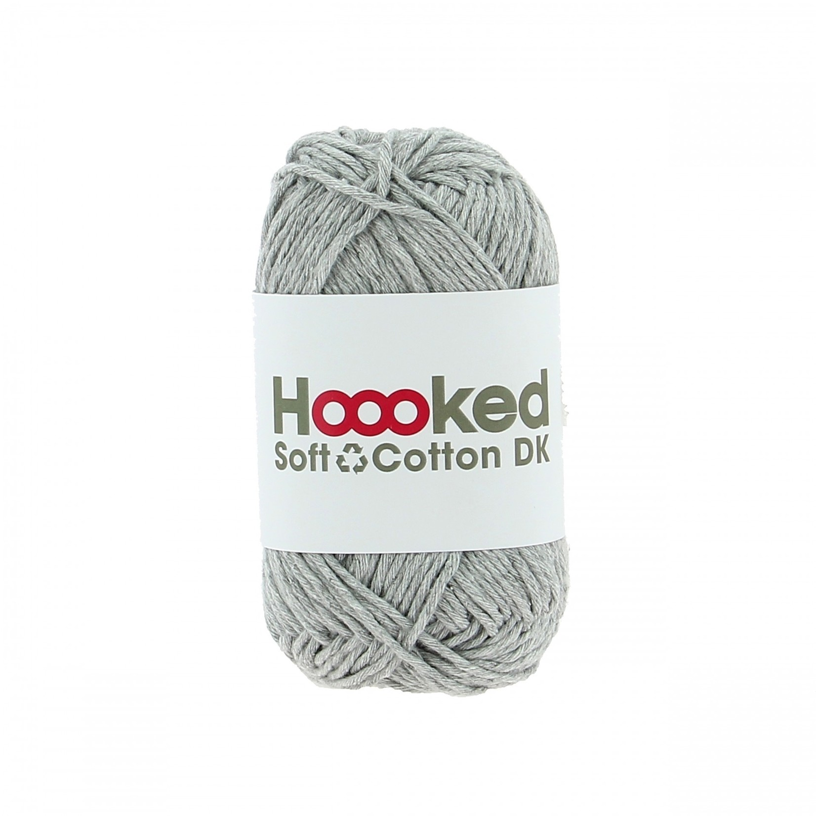Hoooked Hoooked Soft Cotton DK New York Grey bundel 5 x 50 gr. / 85 m.
