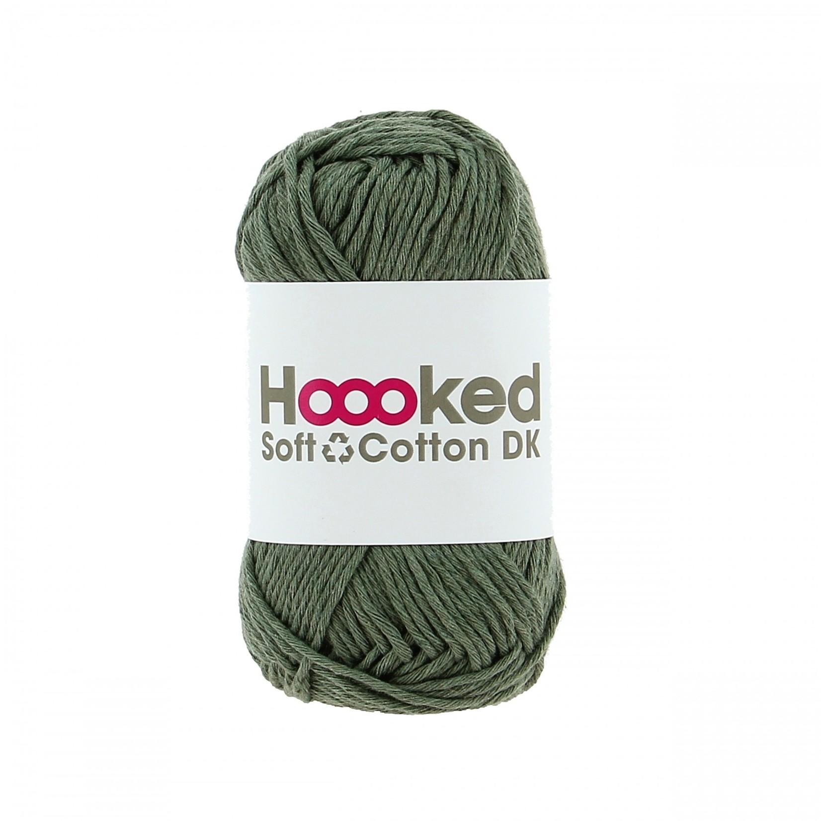 Hoooked Hoooked Soft Cotton DK Paramaribo Palm bundel 5 x 50 gr. / 85 m.