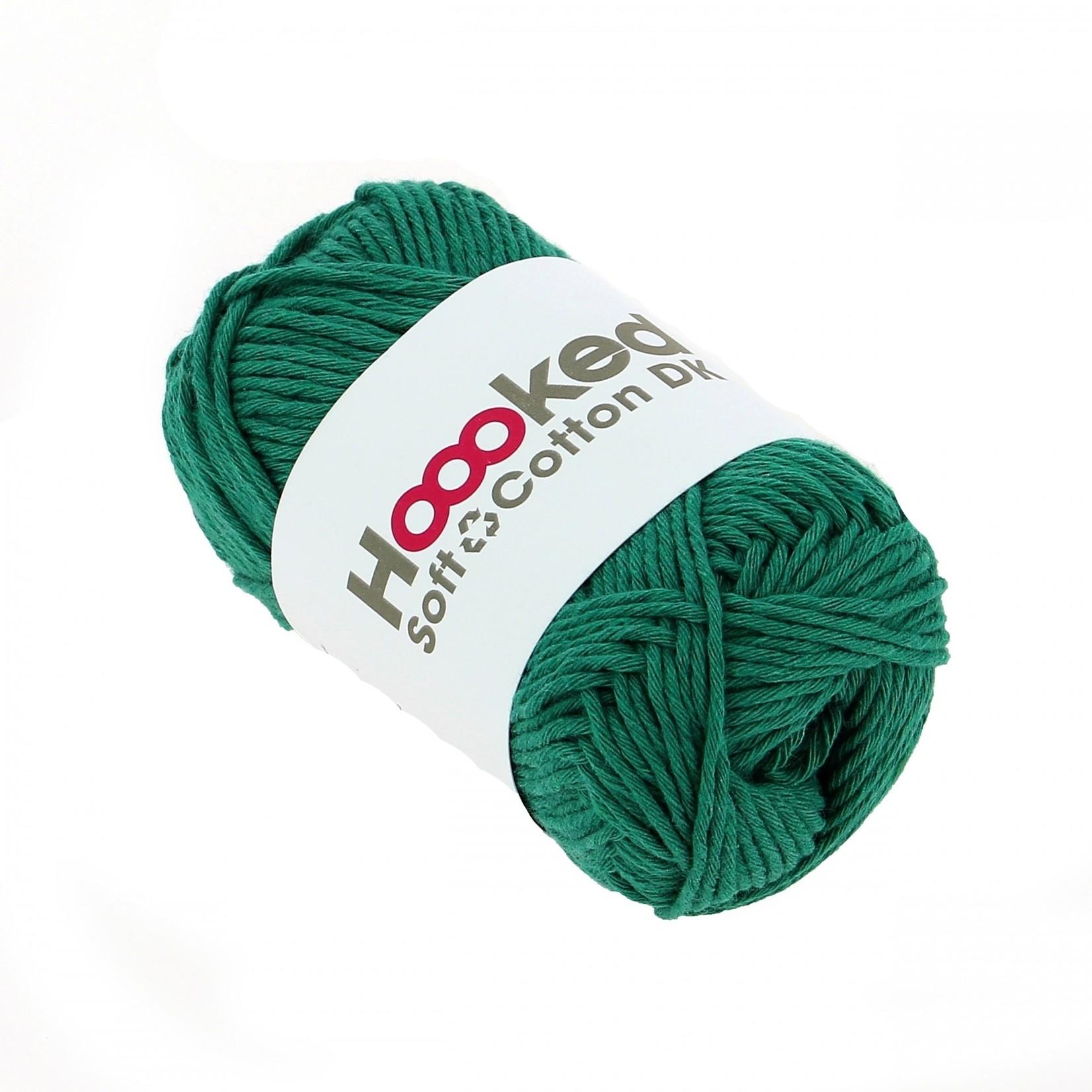 Hoooked Hoooked Soft Cotton DK Seattle Jade bundel 5 x 50 gr. / 85 m.