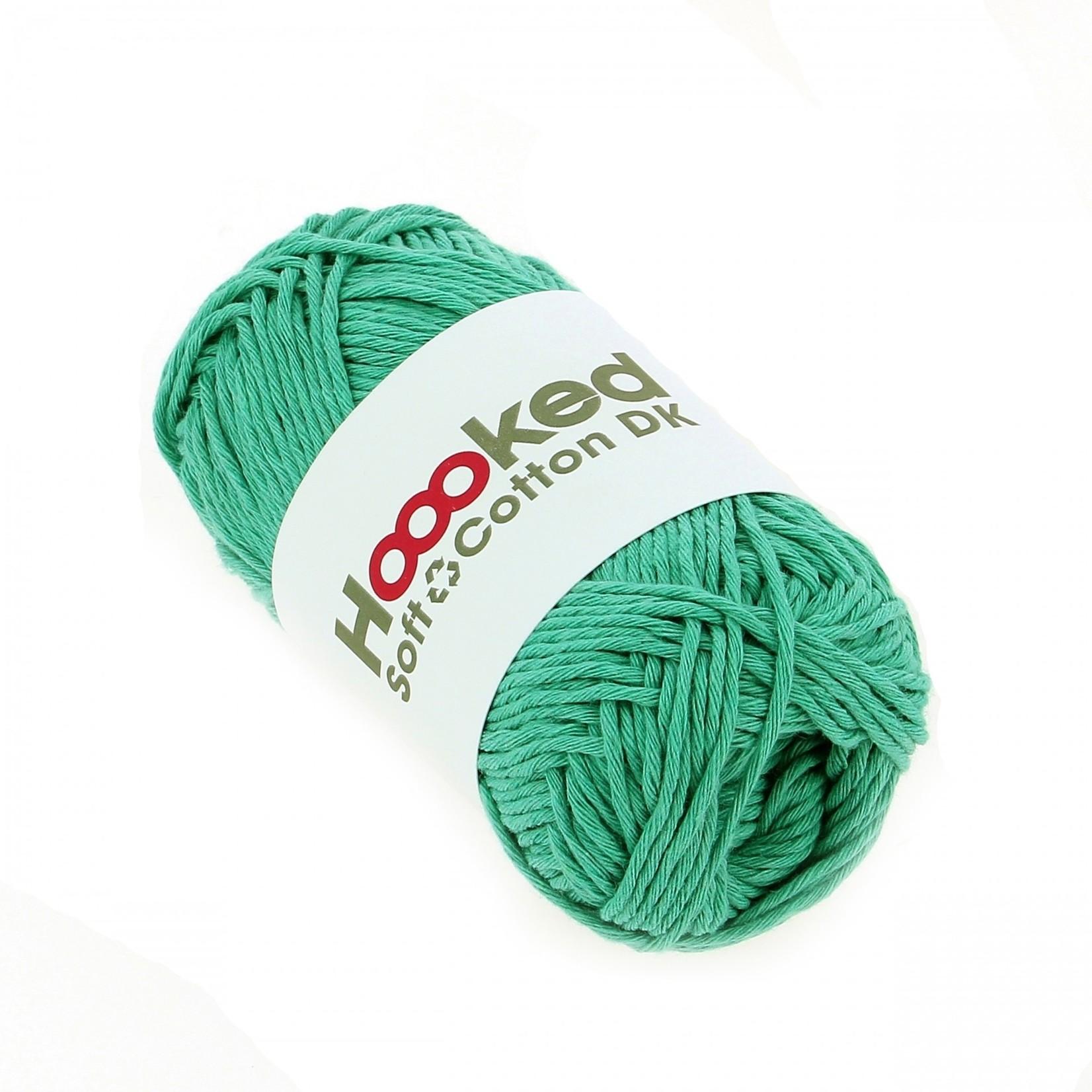 Hoooked Hoooked Soft Cotton DK Tokio Turquoise bundel 5 x 50 gr. / 85 m.