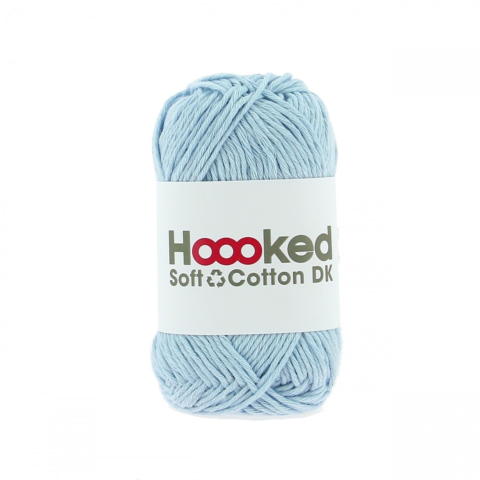 Hoooked Hoooked Soft Cotton DK Dublin Blue bundel 5 x 50 gr. / 85 m.