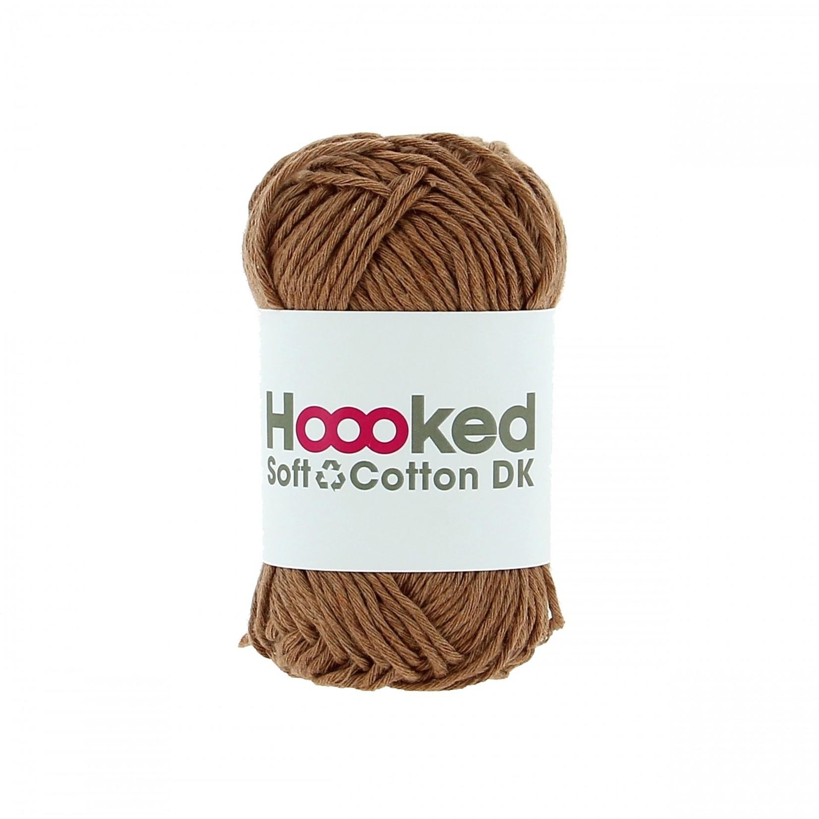 Hoooked Hoooked Soft Cotton DK Caïro Caramel bundel 5 x 50 gr. / 85 m.