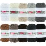 Hoooked Hoooked Soft Cotton DK kleurenbundel Grijs 10 x 50 gr. / 85 m.
