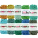 Hoooked Hoooked Soft Cotton DK kleurenbundel Groen 10 x 50 gr. / 85 m.