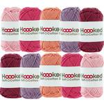 Hoooked Hoooked Soft Cotton DK kleurenbundel Roze 10 x 50 gr. / 85 m.