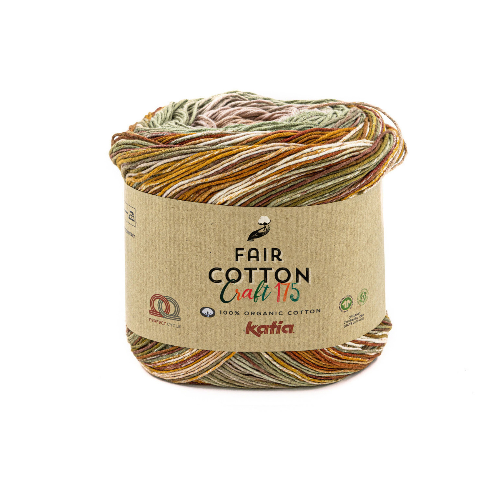 Katia Katia Fair Cotton Craft verloopgaren Kleur 800 - 175 gr.