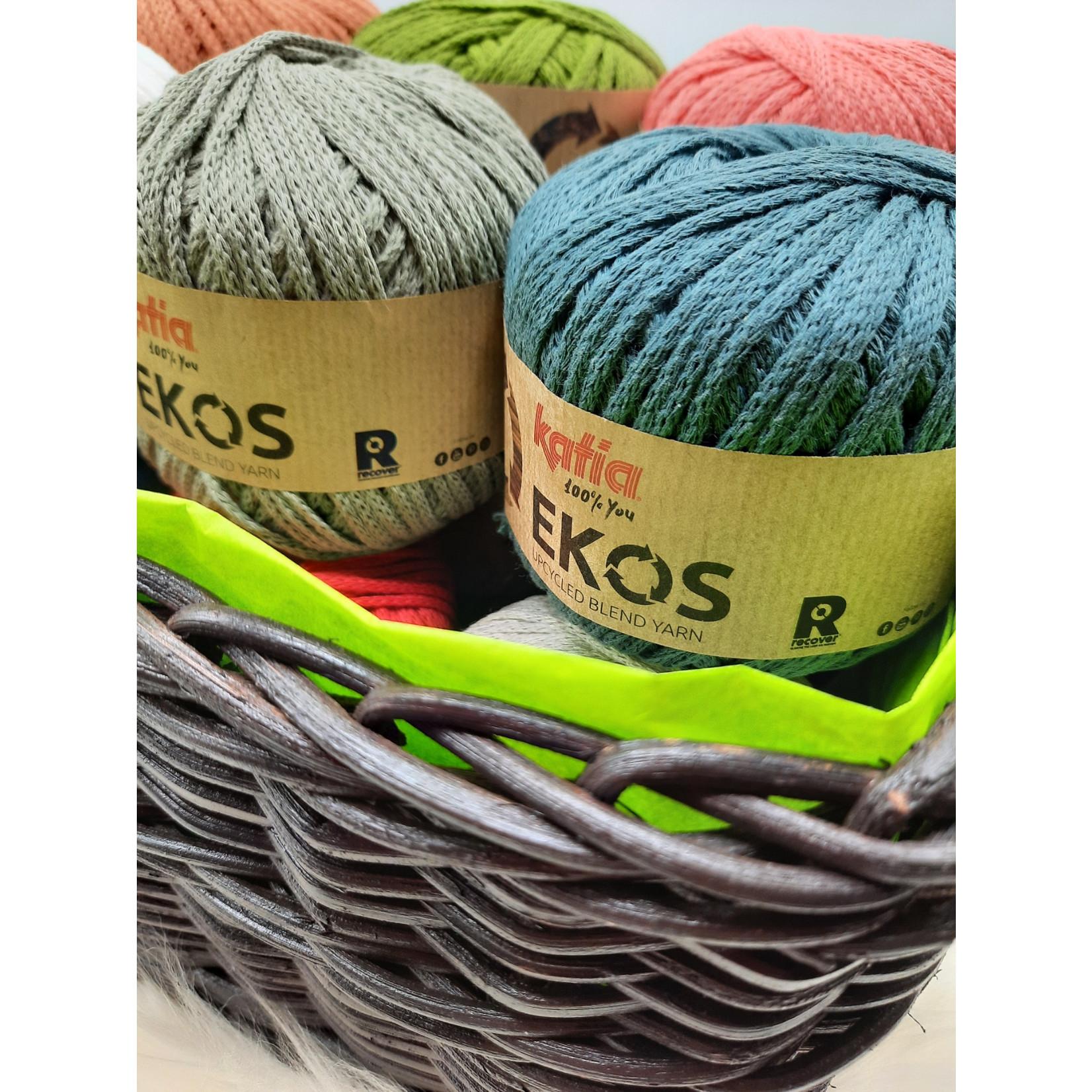 Katia Ekos Kleurenbundel in 12 kleuren = 12 bollen x 50 gr.