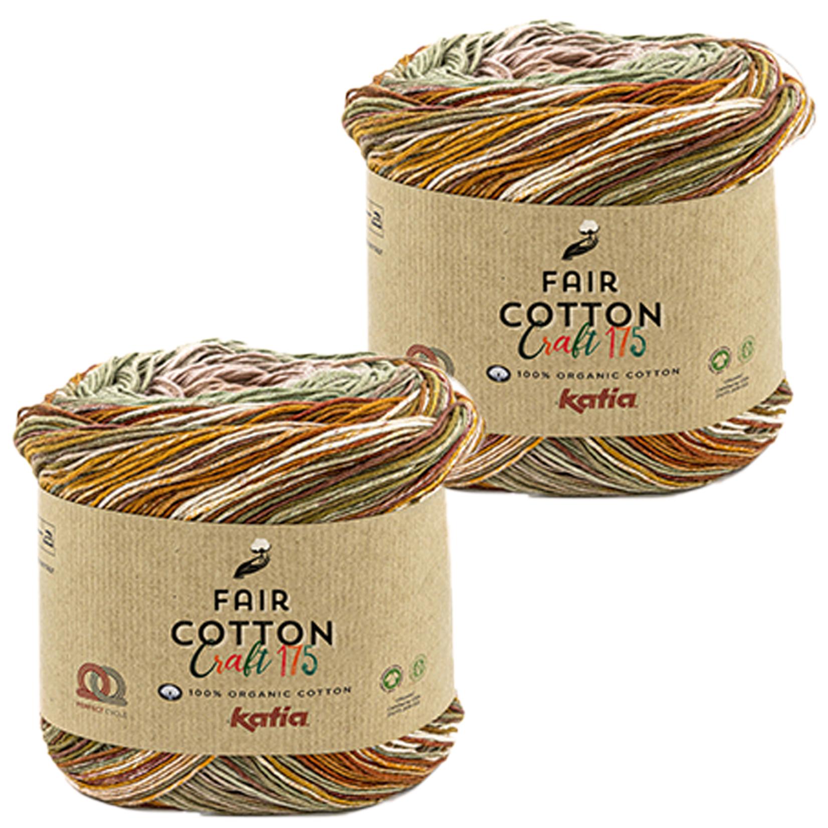 Katia Katia Fair Cotton Craft verloopgaren Kleur 800 - bundel 2 bollen x175 gr.