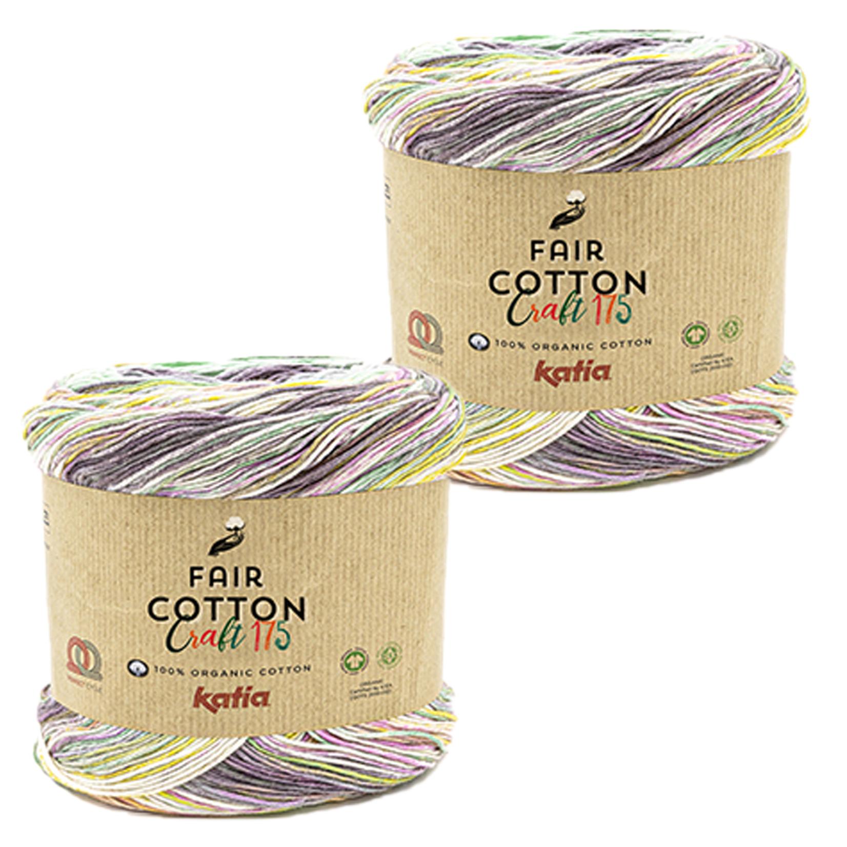 Katia Katia Fair Cotton Craft verloopgaren Kleur 804 - bundel 2 bollen x175  gr.
