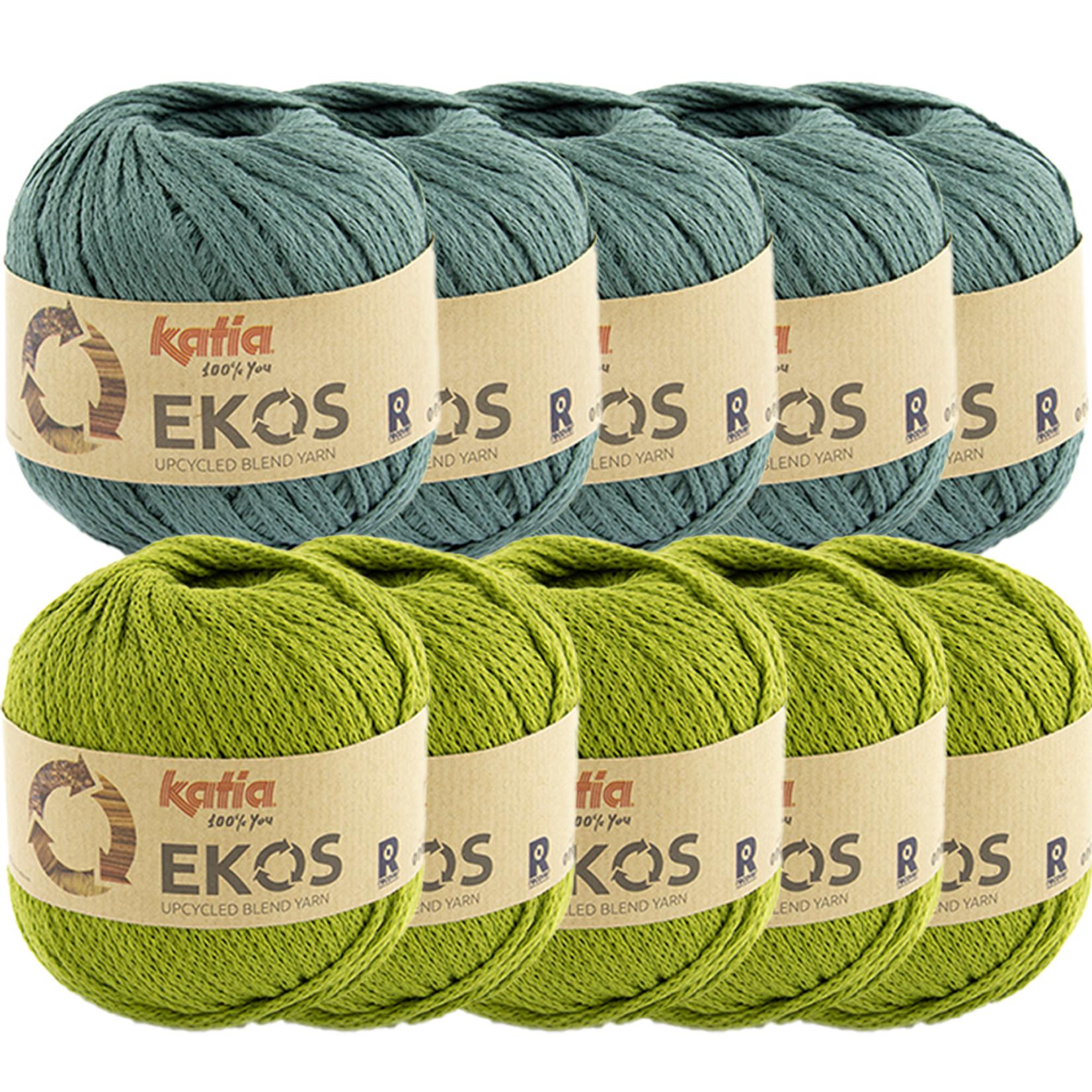 Katia Ekos Combibundel 10 bollen x 50 gr. Groenblauw-Pistache