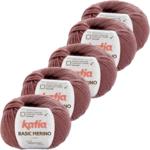 Katia Basic Merino - 74_Donker bleekrood - 5 bollen 50 gr. /120 m.