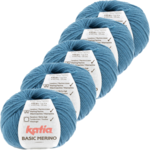 Katia Basic Merino - 81_Licht Groenblauw - 5 bollen 50 gr. /120 m.