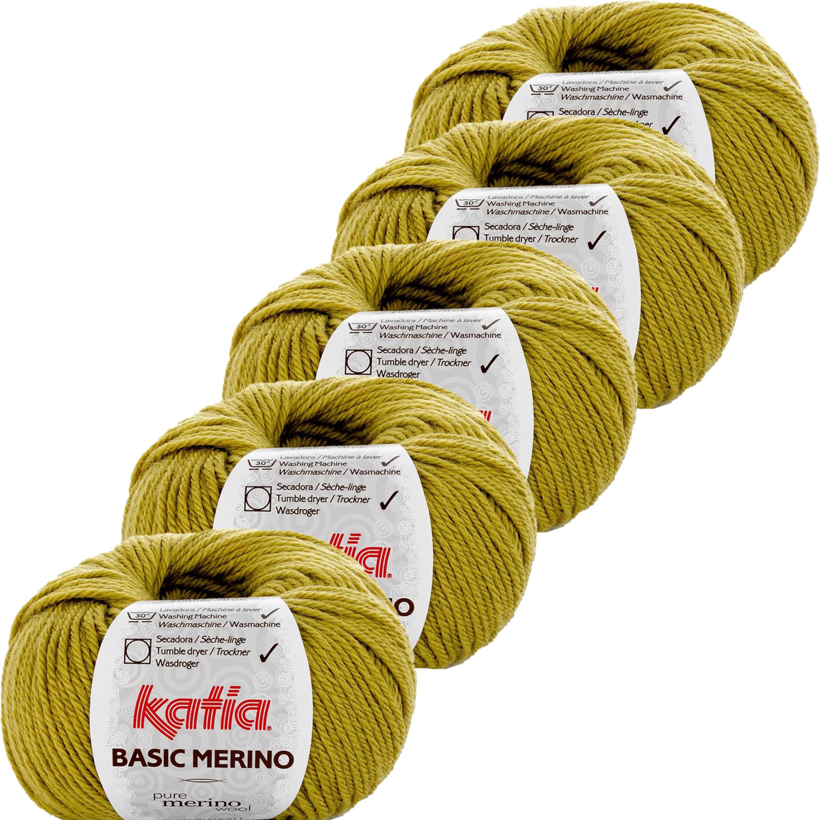 Katia Basic Merino - kleur 18_Pistache - bundel 5 bollen 50 gr.  van 120 m.