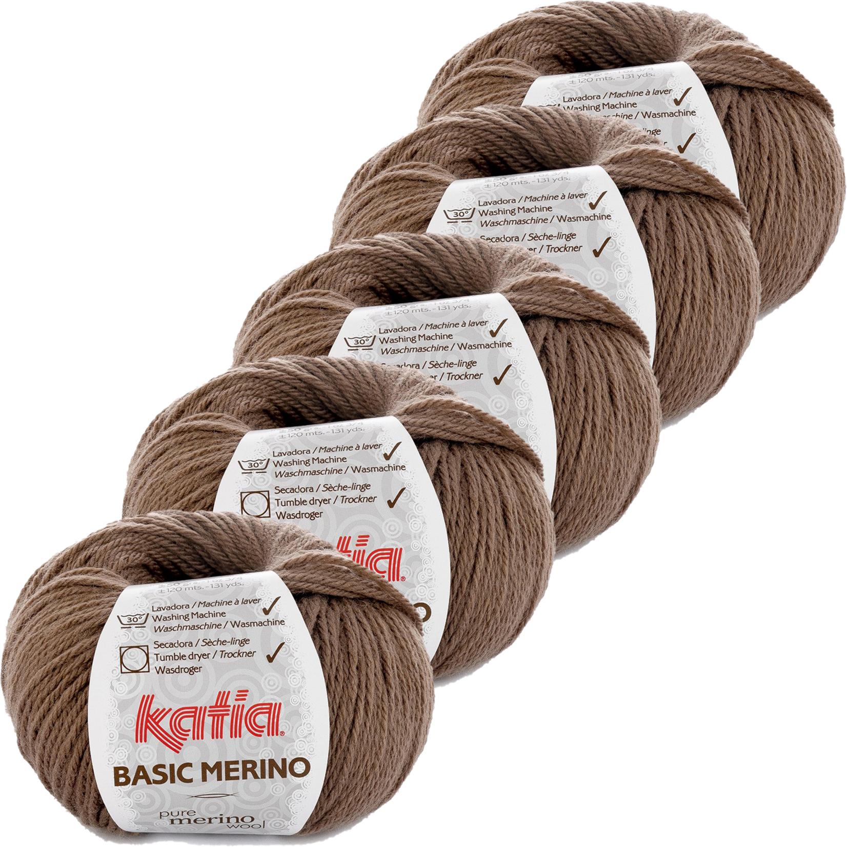 Katia Basic Merino - kleur 68_Reebruin - bundel 5 bollen 50 gr.  van 120 m.