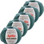 Katia Basic Merino - 78_Smaragdroen - 5 bollen 50 gr. /120 m.