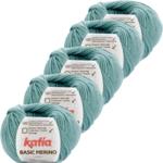 Katia Basic Merino - 73_Waterblauw - 5 bollen 50 gr. /120 m.