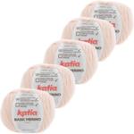 Katia Basic Merino - 87_Zeer licht bleekrood - 5 bollen 50 gr. /120 m.