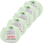 Katia Basic Merino - 85_Zeer licht groen - 5 bollen 50 gr. /120 m.