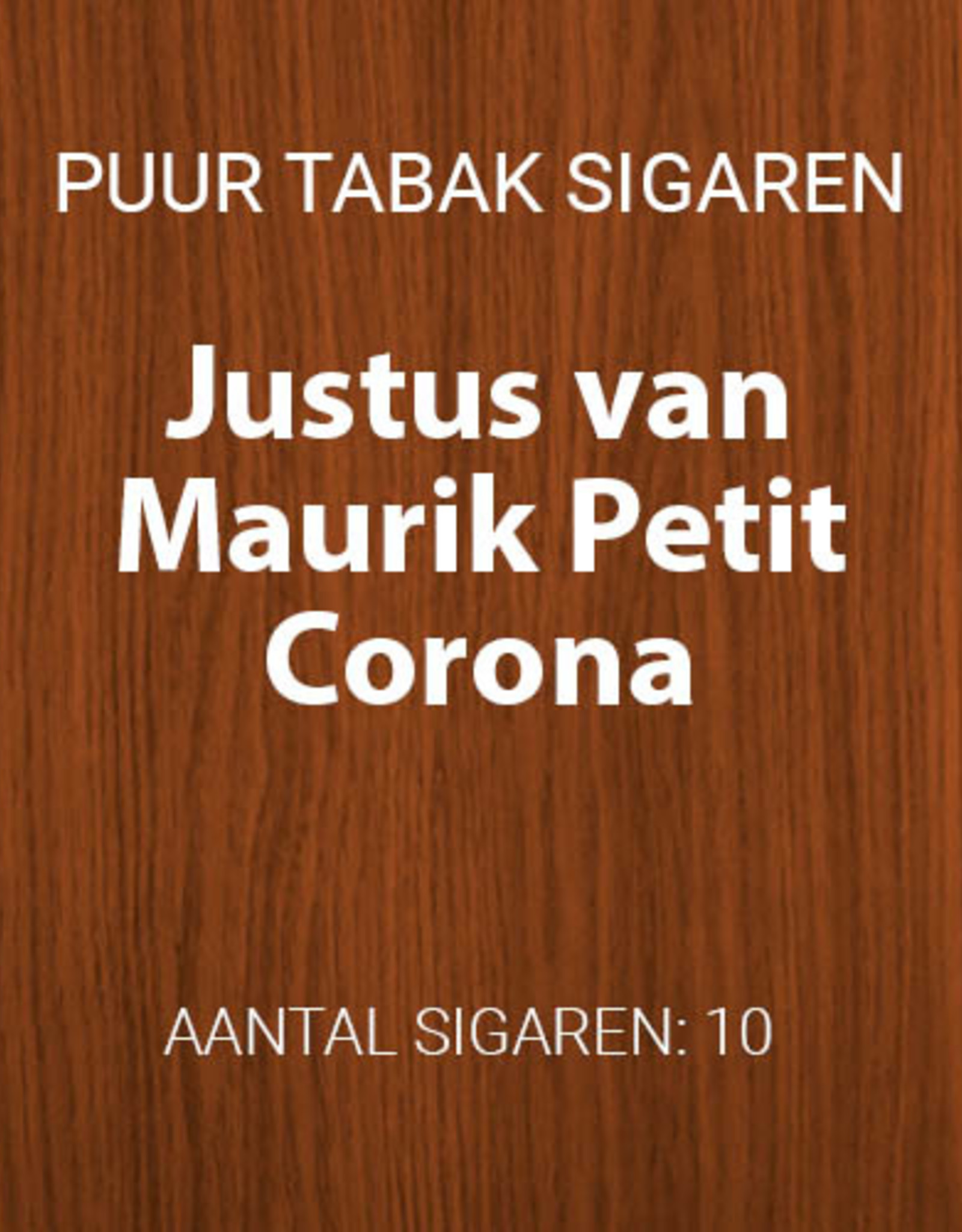 Justus van Maurik Petit Corona
